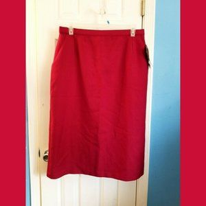 Levi Strauss Womens Pencil Skirt 34/20W Red New